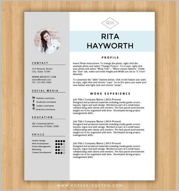 Free Resume Template Design Word