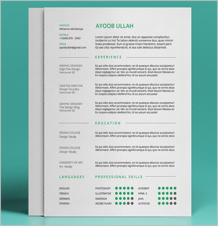 Free Resume Templates Best