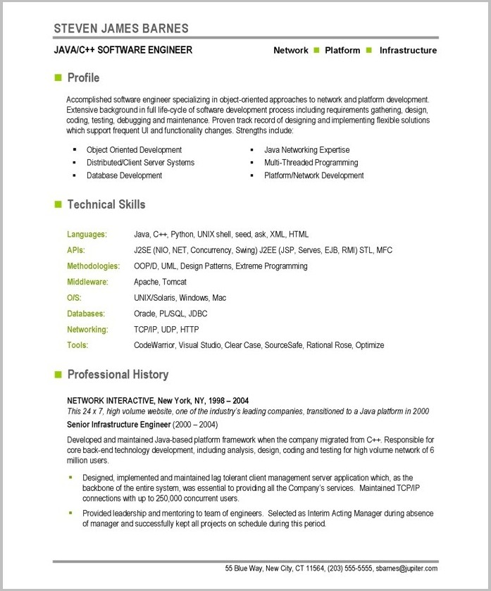 Free Resume Templates For Word On Mac