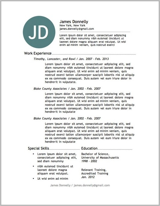 Free Resume Templates Nz