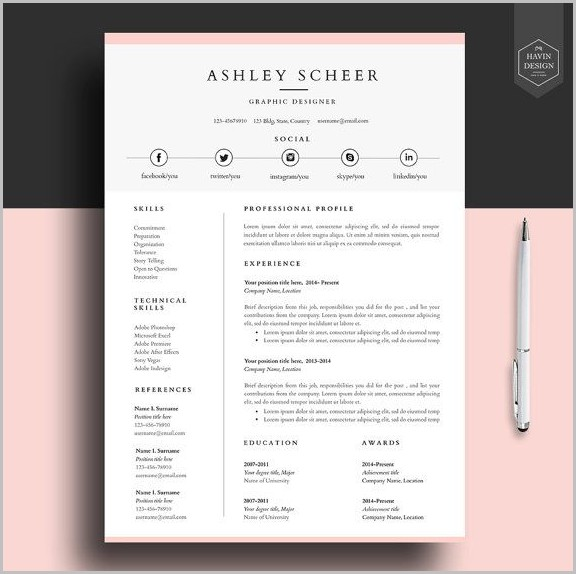 Free Resume Templates Pinterest