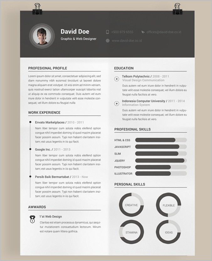 Free Resume Templates Psd