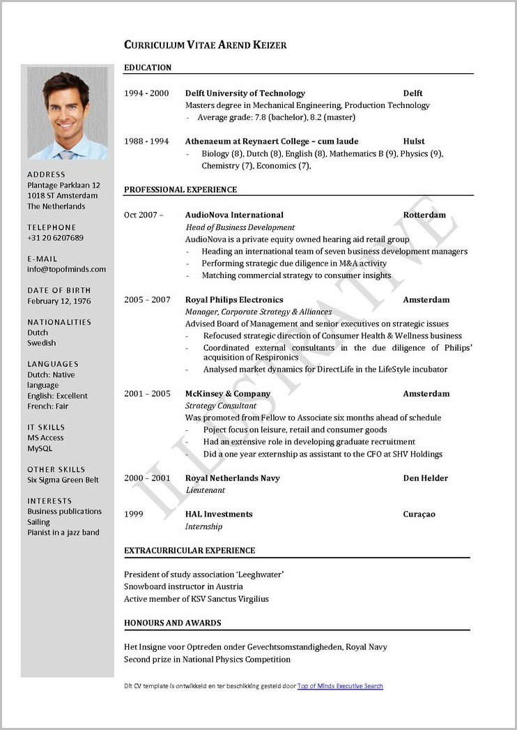 Free Resume Templates Word Perfect