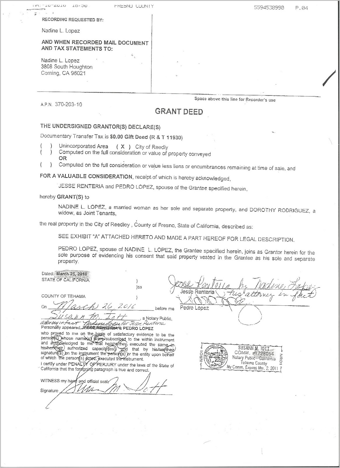 Grant Deed Form In California