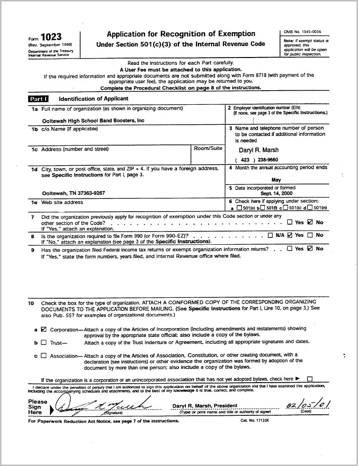 How To Get A 501c3 Form