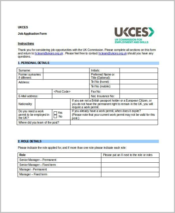 Kroger Job Application Form Pdf