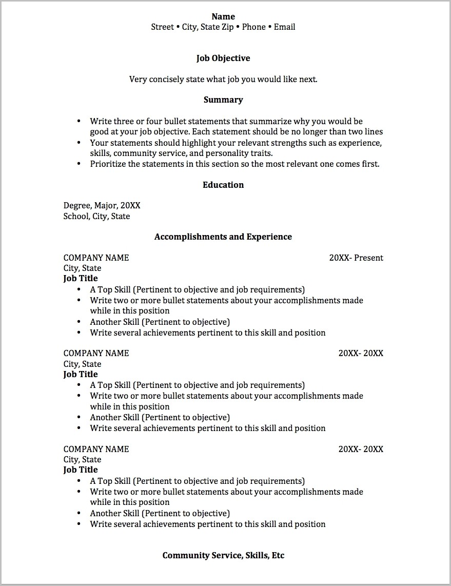 Student Job Resume High School Resume Examples First Job Student Inside Job Resume Outline