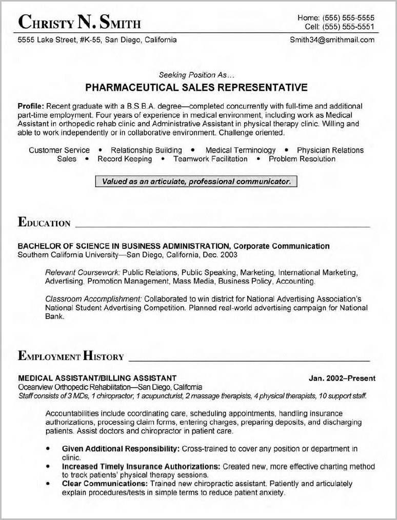Medical Billing And Coding Student Resume