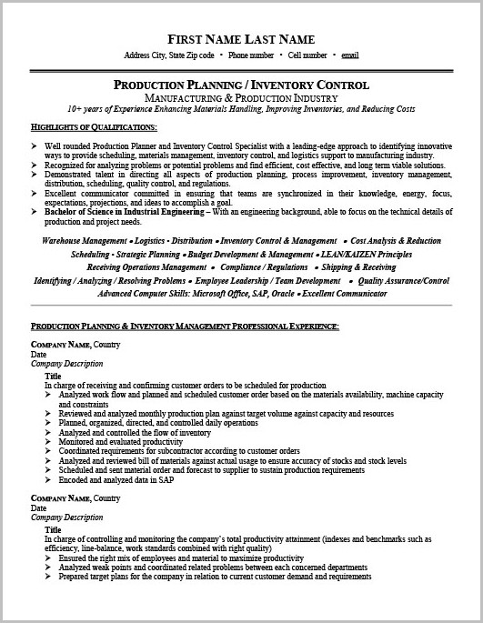 Military To Civilian Combination Resume Examples