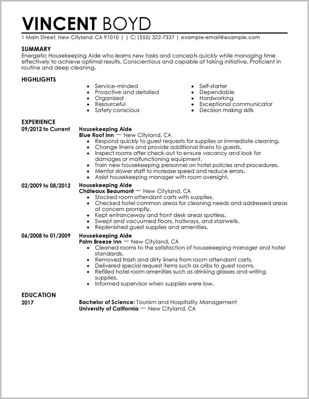 Military To Civilian Resume Pdf