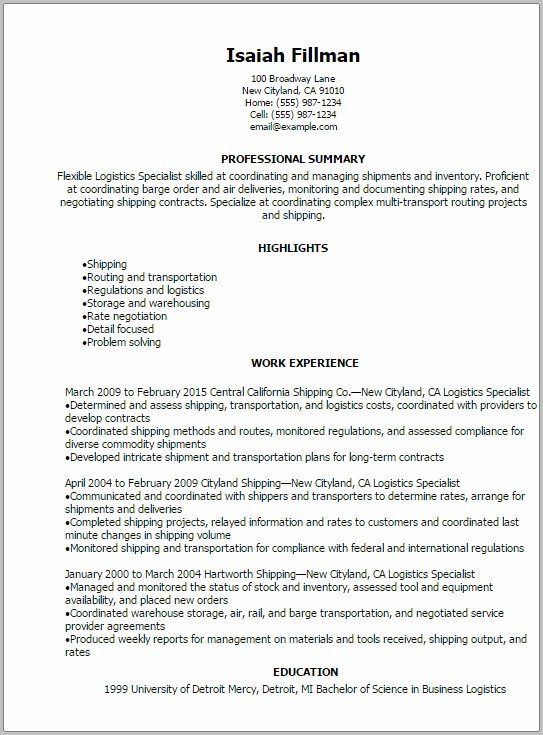 Military To Civilian Transition Resume