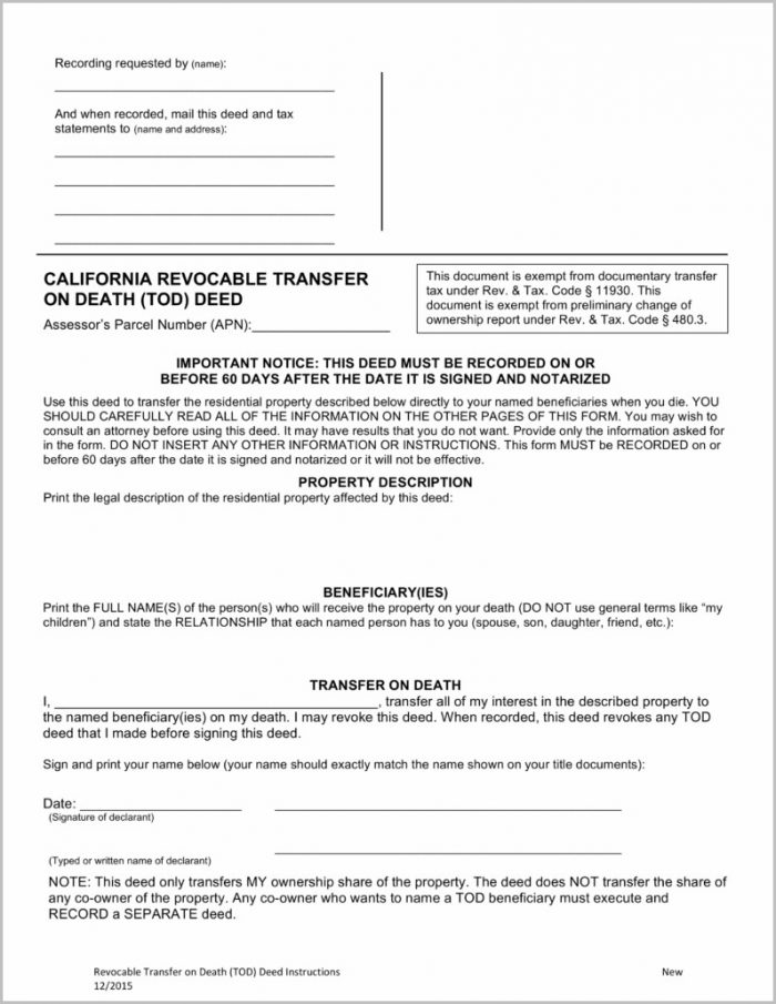 New Grant Deed Form