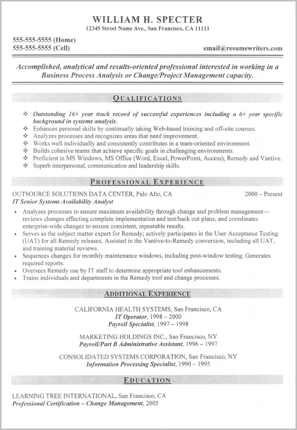 Professional Military To Civilian Resume Writers