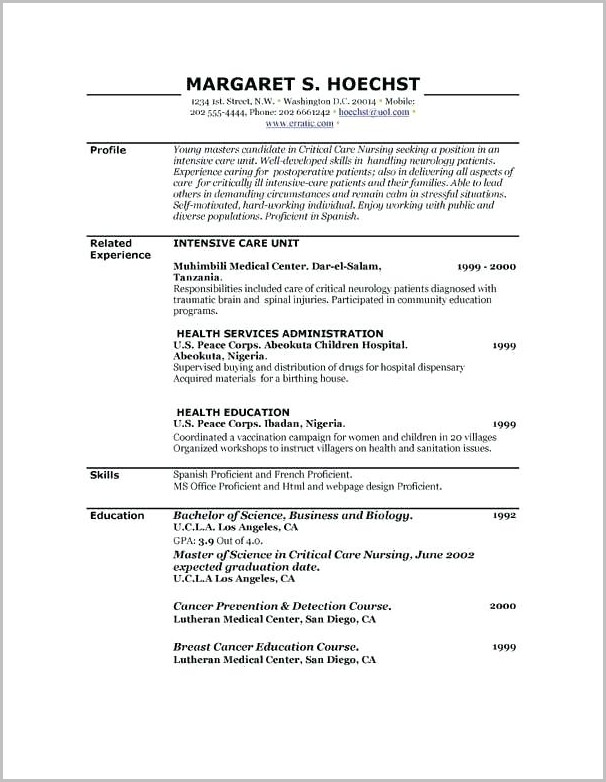 Resume Builder Free Printable No Account