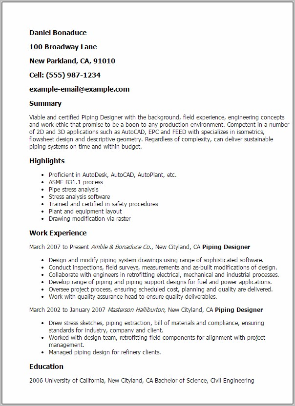 Resume Template Word For Fresh Graduate