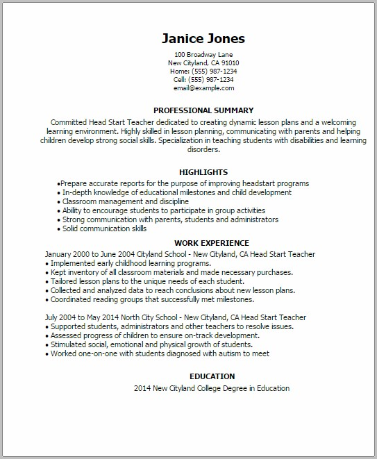 Resume Templates For Word Online