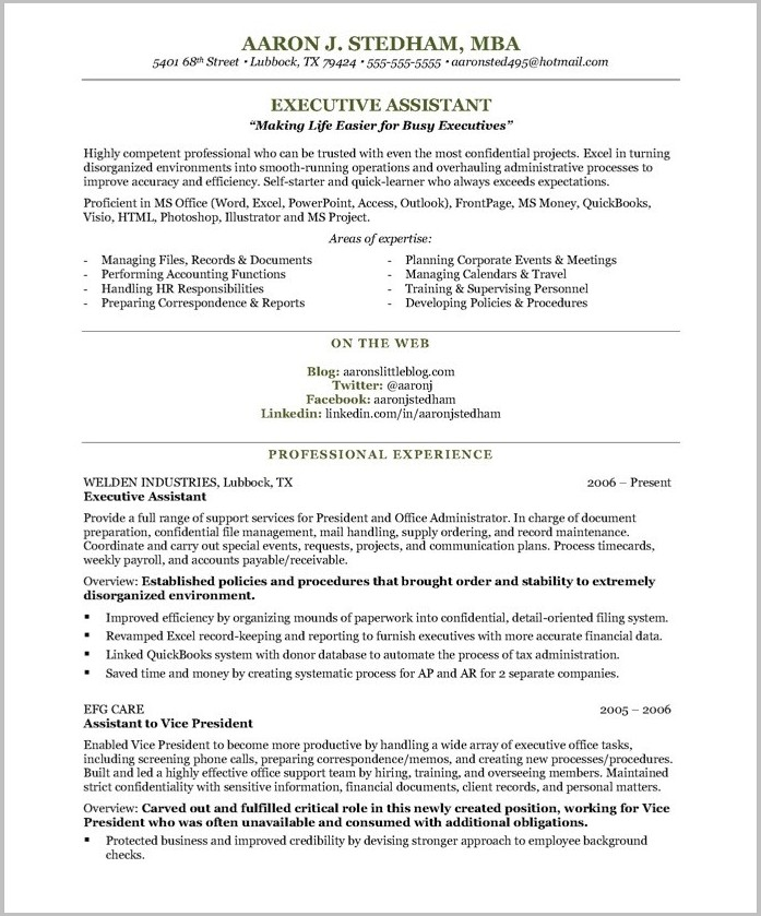 Resume Templates For Word Processor