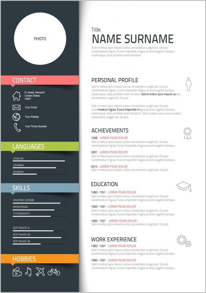 Resume Templates Word Creative
