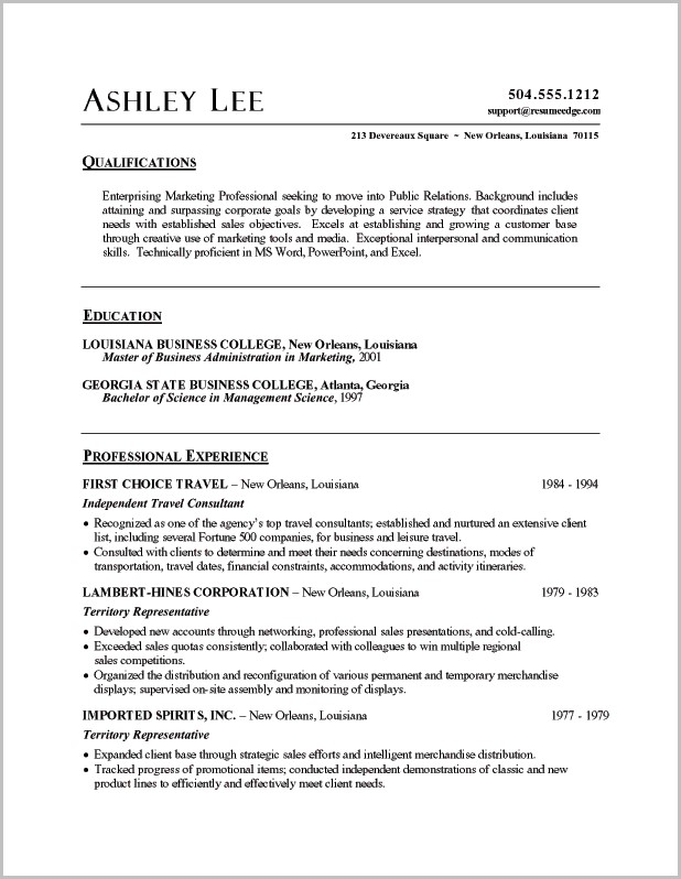 Resume Templates Word Customer Service