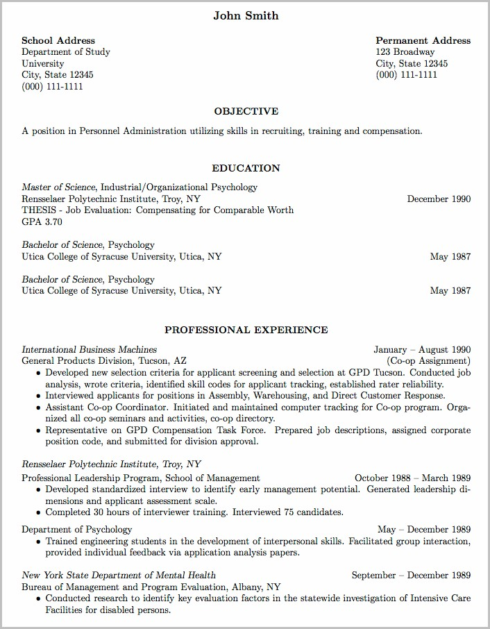 Resume Templates Word For Experienced