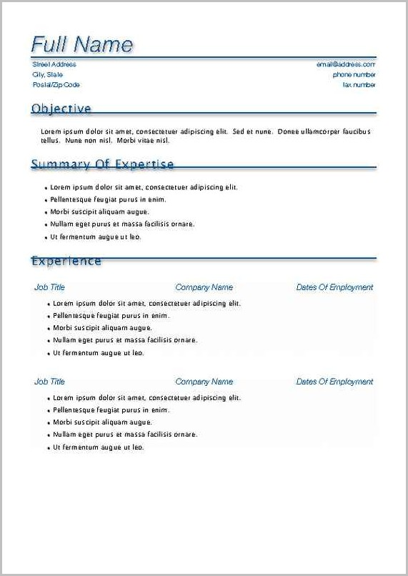 Curriculum Vitae Template For Mac Pages