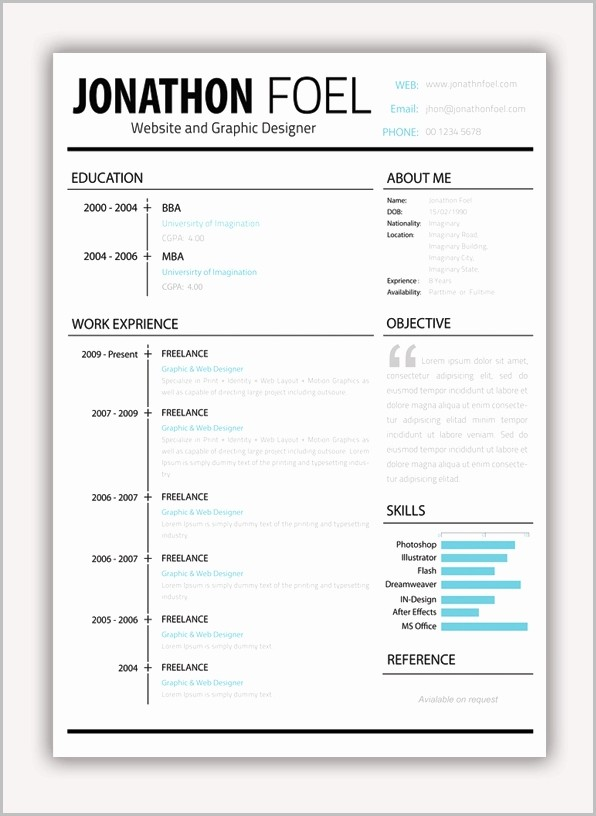 Curriculum Vitae Template For Pages On Mac