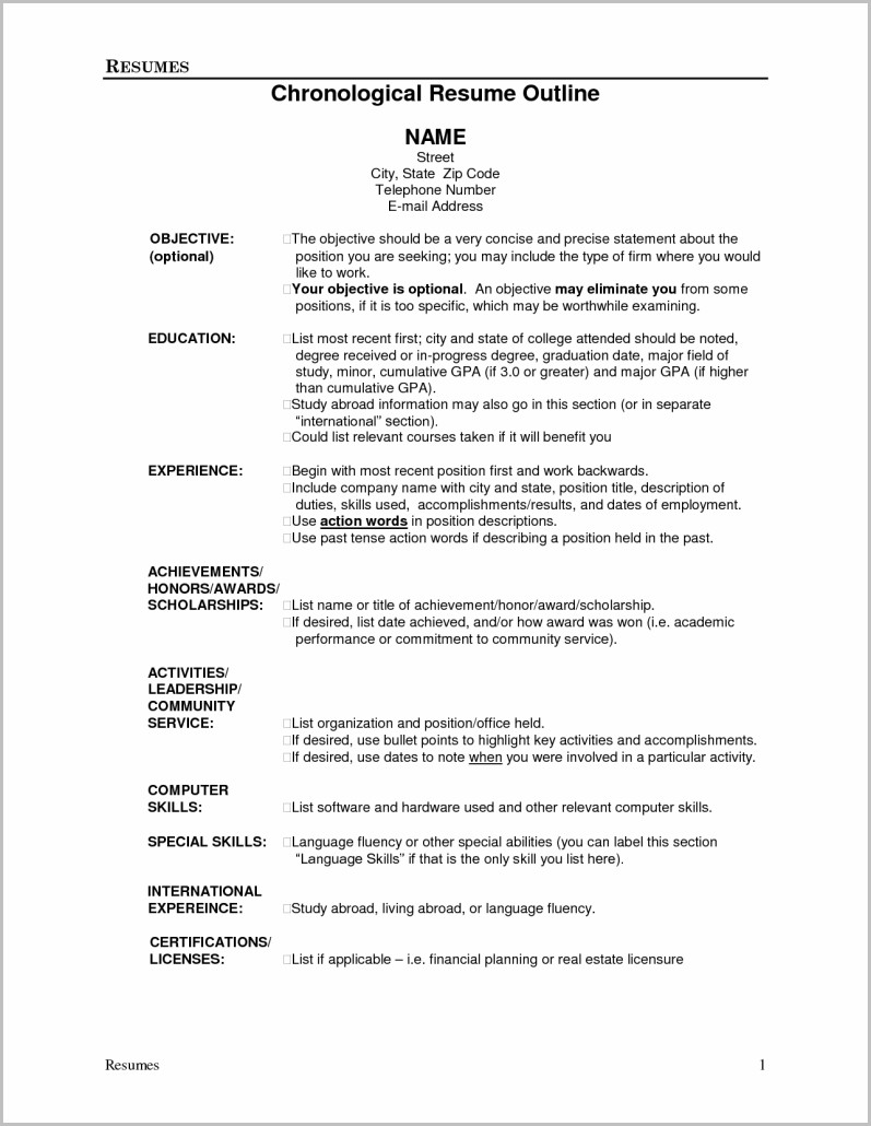 examples of resume job titles