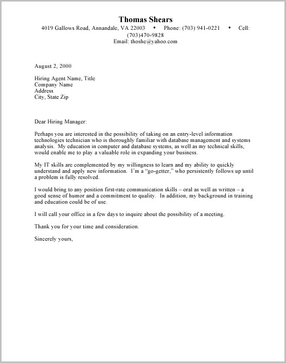 Examples Of Resume Letter For Student