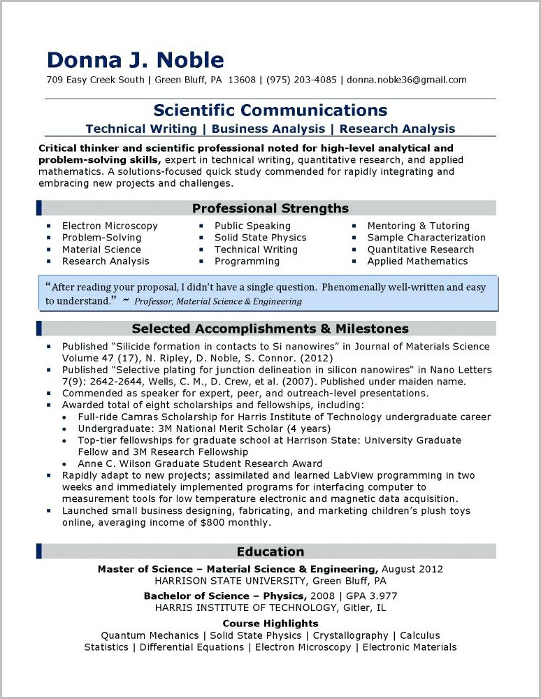 Examples Of Resumes 2014