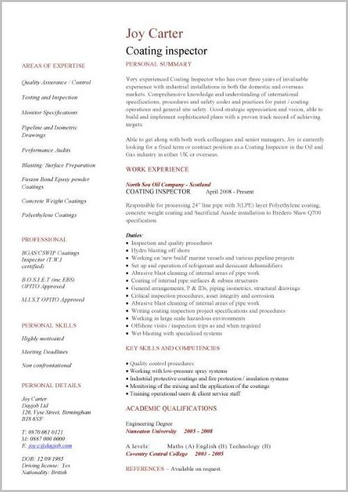 Free Construction Cv Templates