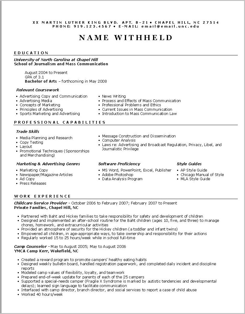 Free Functional Resume Templates Online