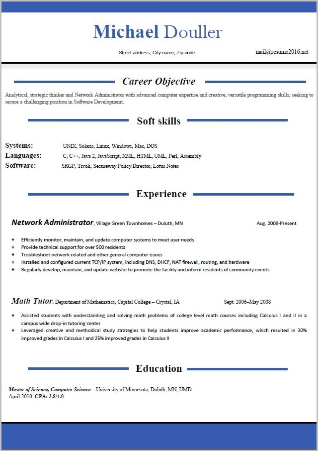 Free Resume Templates 2014 Download