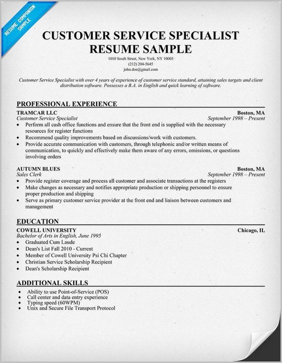Free Sample Resume For Customer Care Executive