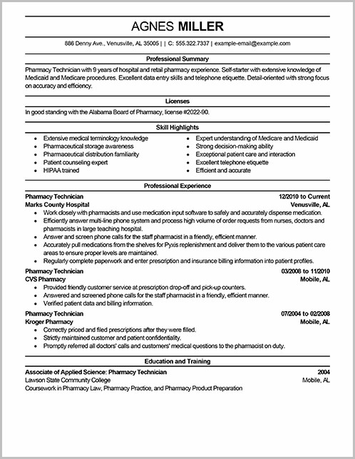 Resume For Nursing Assistant Job