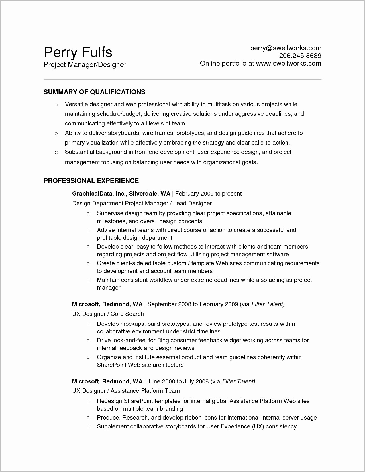 Resume Template For Mac Word 2008
