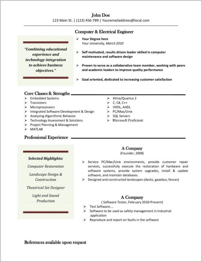 Resume Template Mac App