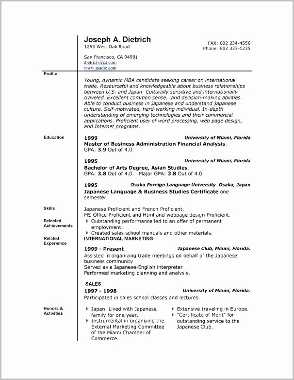 Resume Template On Mac Word 2008