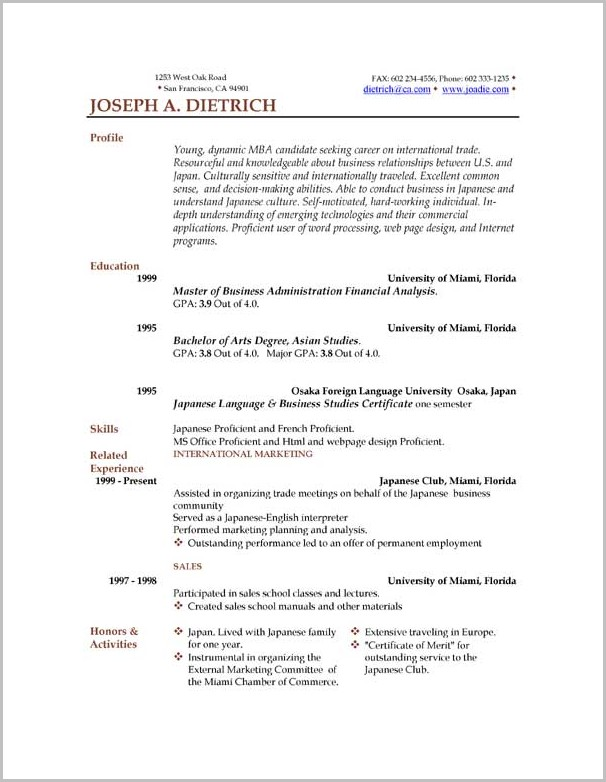 Resume Template Os X