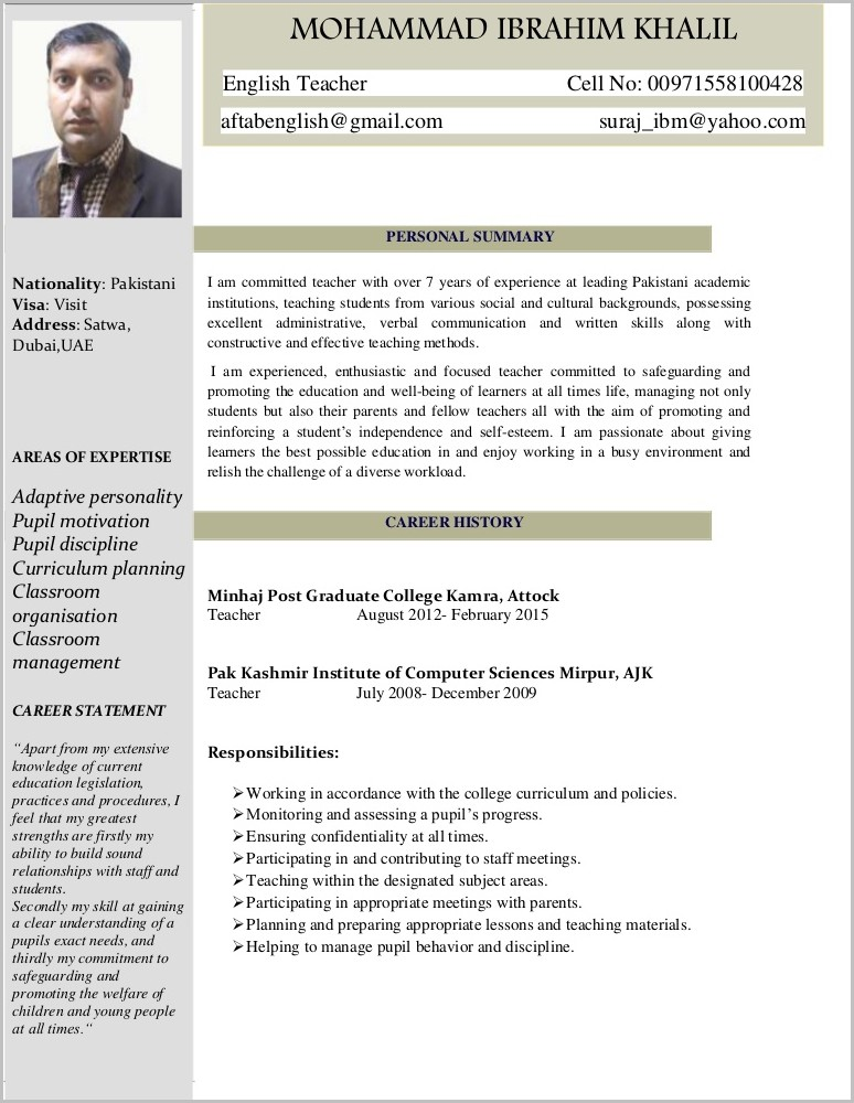 Resume Templates For The Mac