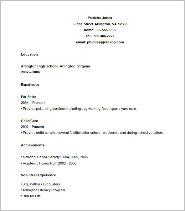 Resume Templates Free Printable