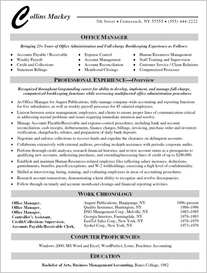 Resume Templates Office Mac