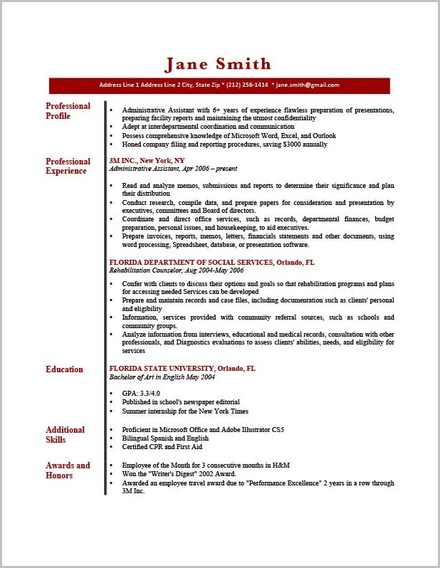 Resume Writing New York Times