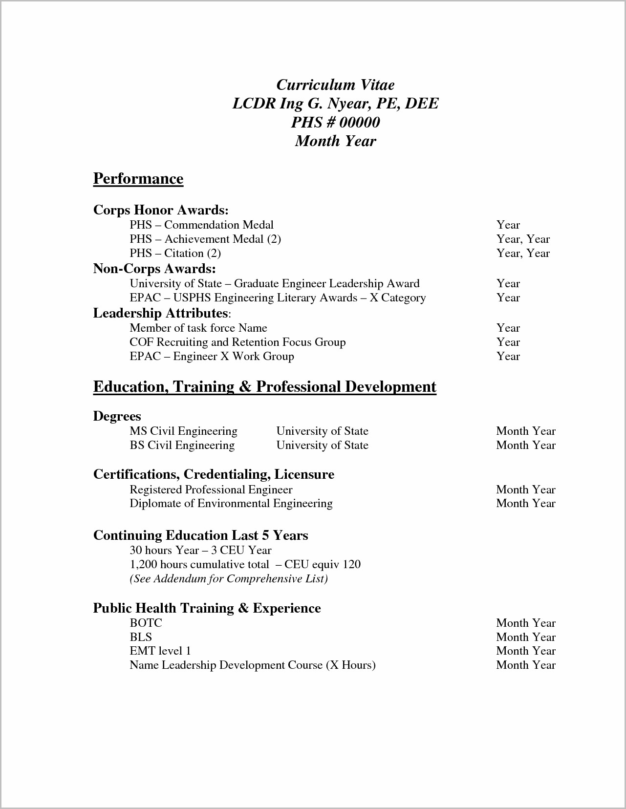 Sample Of Professional Resume Pdf