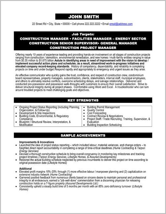 Sample Resume Professional Services