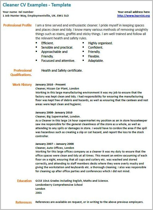 Cv Template For Nurses Uk