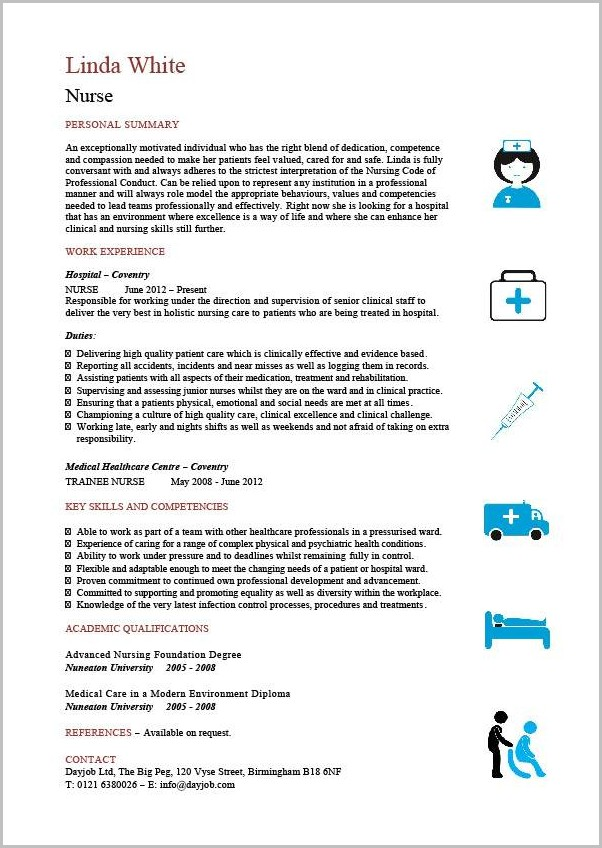 Cv Template For Senior Nurses