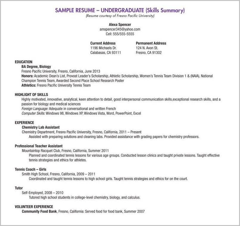free resume builder for high school students