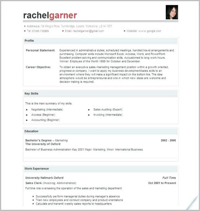 Free Resume Builder Online Printable