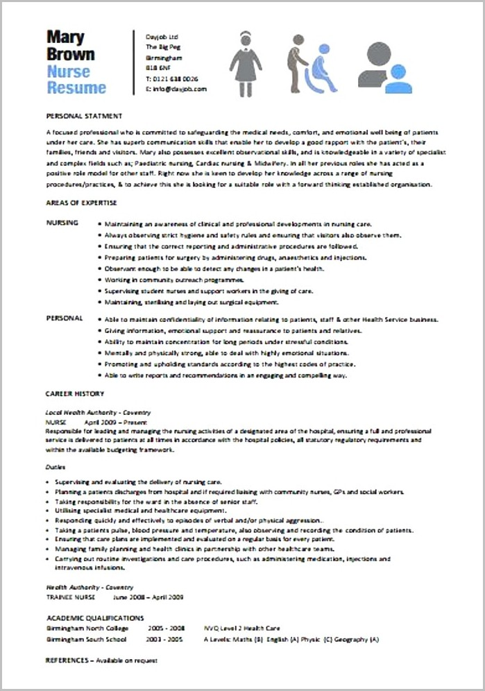 Free Resume Templates For Nurses Downloads