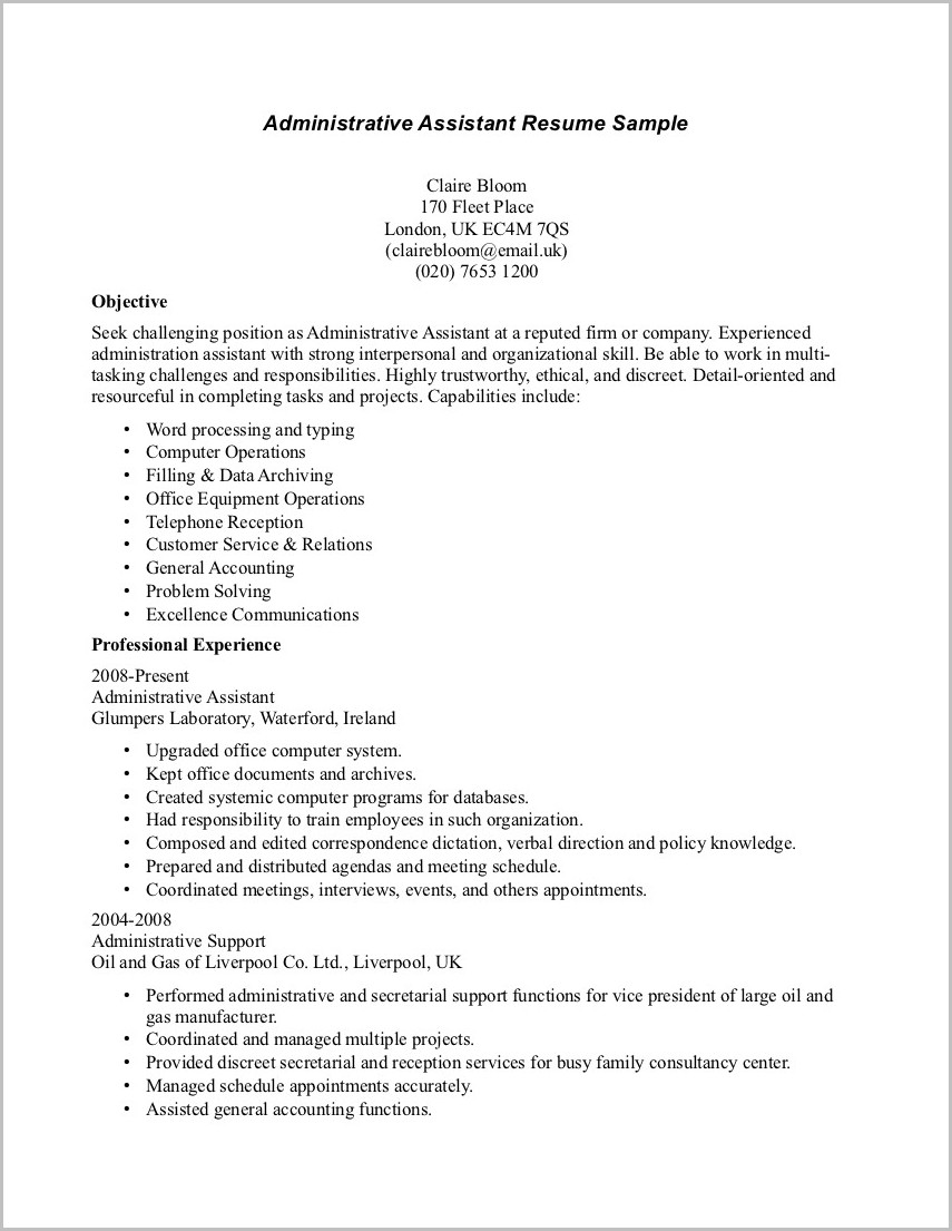 Professional Summary For Resume For Medical Assistant